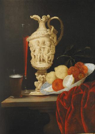 Still Life with carved Ivory Ewer