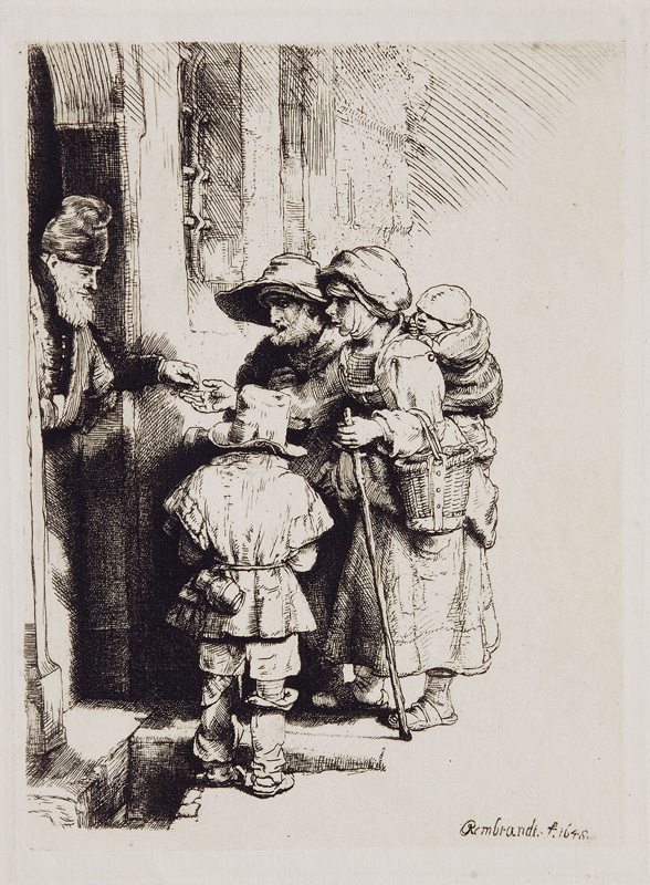 Beggars receiving Alms at a Door