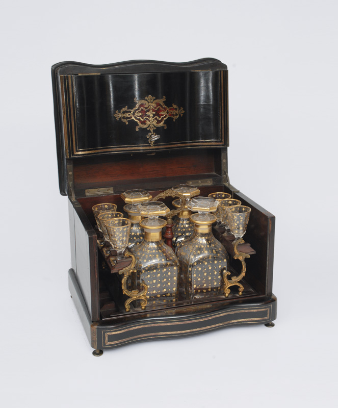 A Napoleon III liquor cabinet with Boulee marquetery