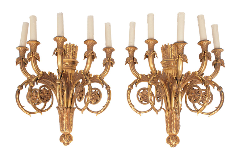 A pair of Louis Seize wall lights