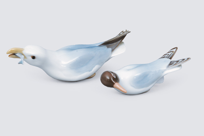 "Two animal figurines ""Gull"""