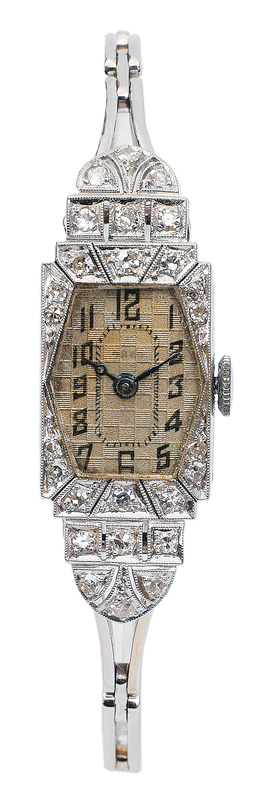 An Art-déco lady`s watch