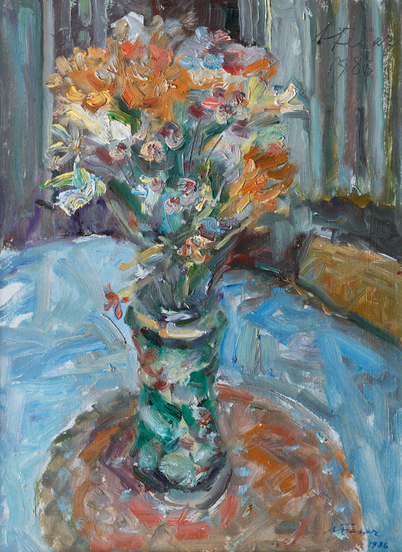 Flowers in a Spanish Vase