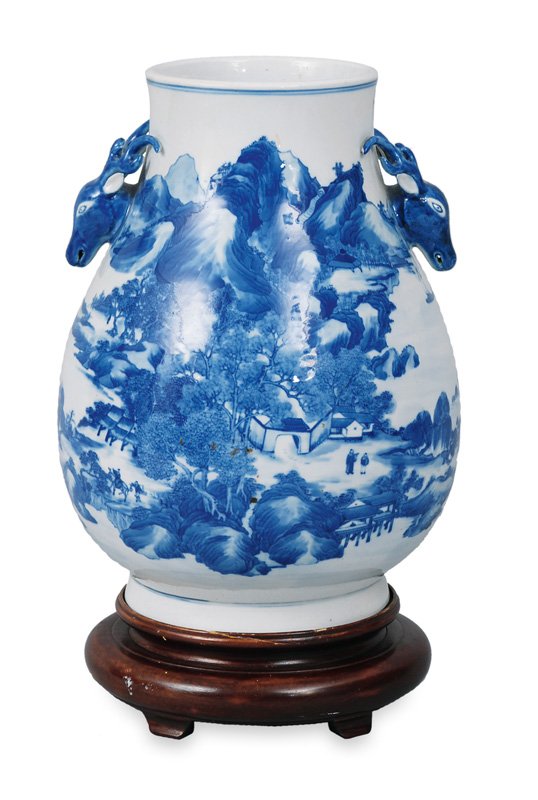 A big vase with landscape