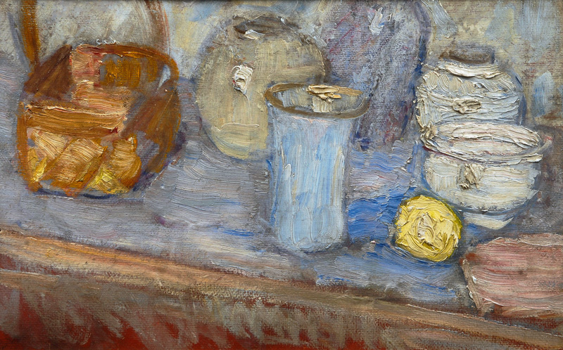 Still Life with Vases and a Lemon