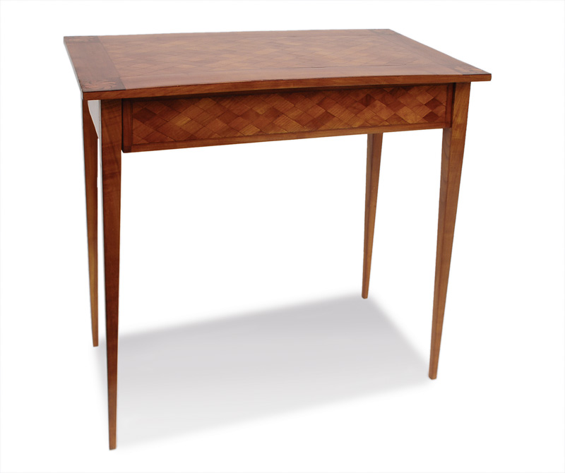 A petit writing desk with fine marquetry