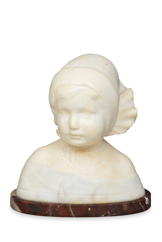 "A marble bust ""Small girl"""