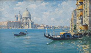 View over the Grand Canal on S. Maria della Salute