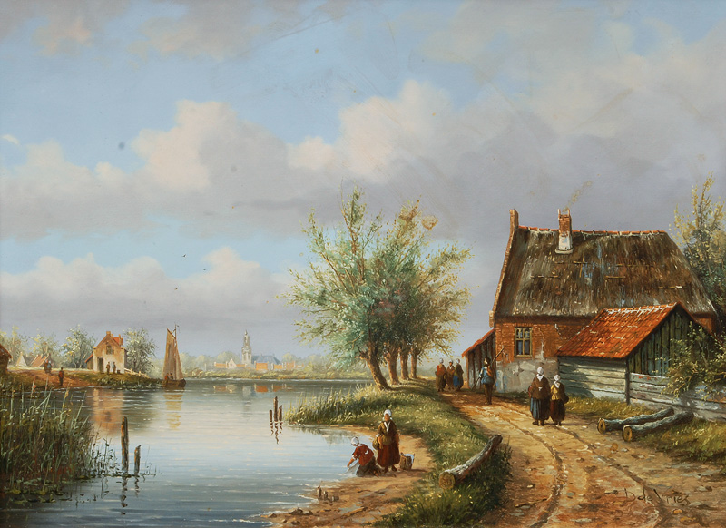 Cottage by a River