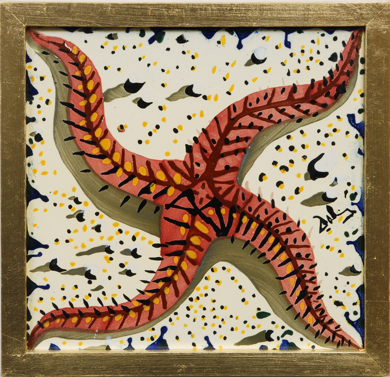 "A tile ""The sea"" of the serie ""Spanish impression"""