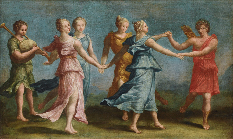 Apollo and four Muses