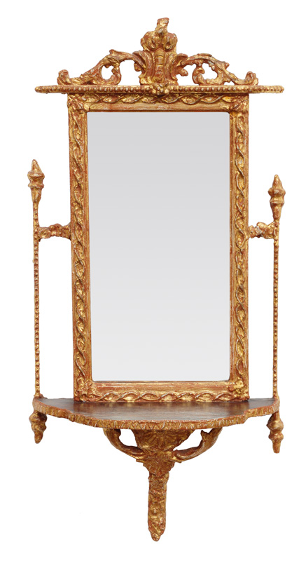 A pair of coloured mirrors