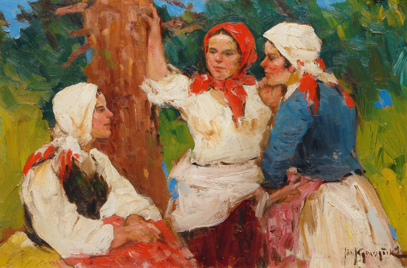 Three young Women chattering