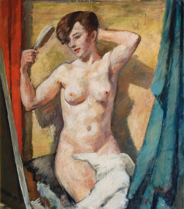 Female Nude with Hairbrush