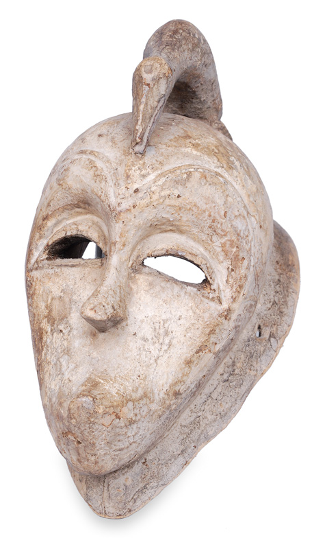 A Senufo mask with bird crest