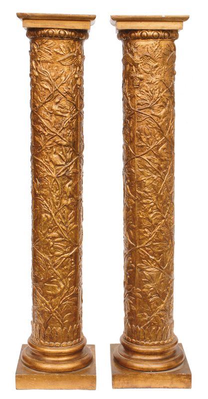 A pair of gilded columns