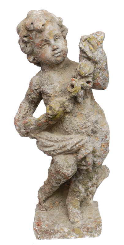 "A garden decoration ""Putto with feston"""