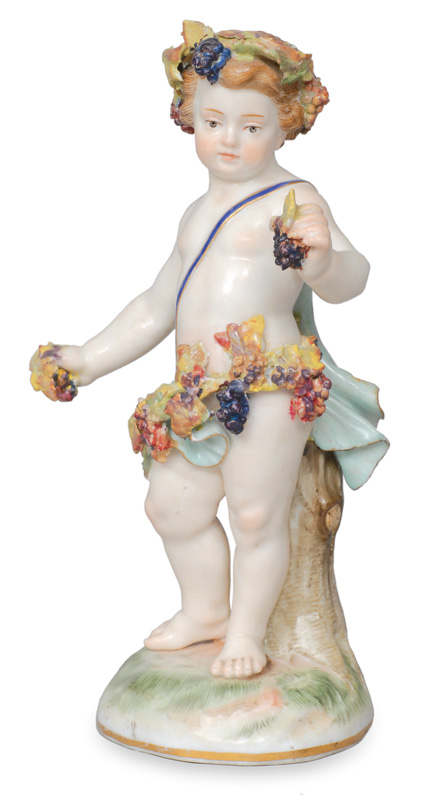 "A small figurine of an amoretto ""Autumn"""