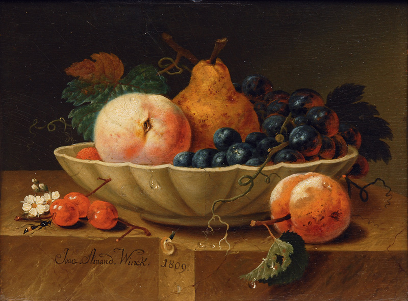 Pair of Still Lifes with Fruits