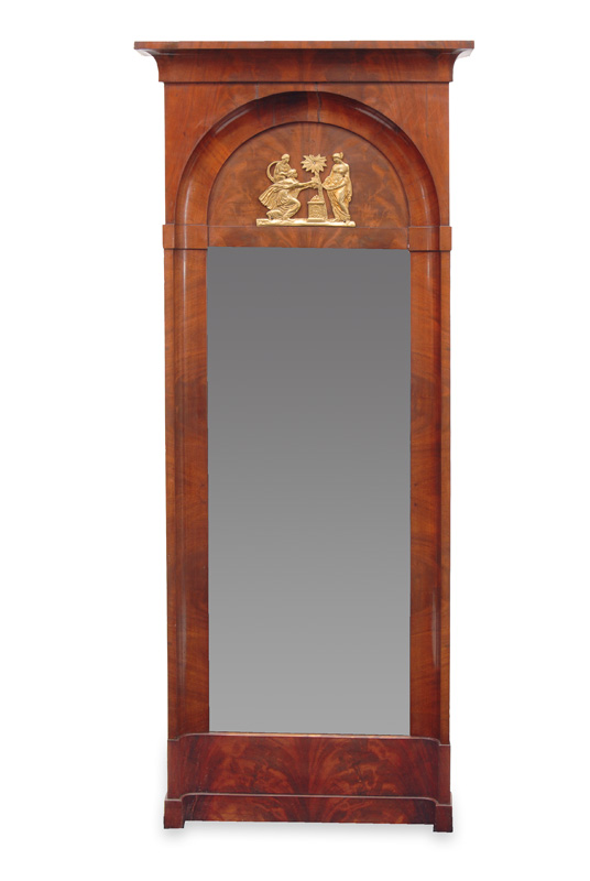 An Empire mirror with bronze applications