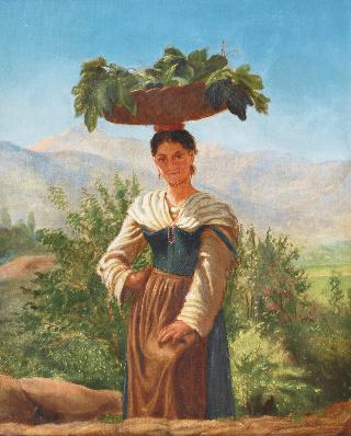 Italian Woman with Fruit Basket