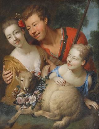 Shepherd and two Shepherdesses