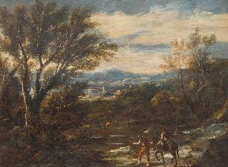 Extensive Landscape with Figures by a River