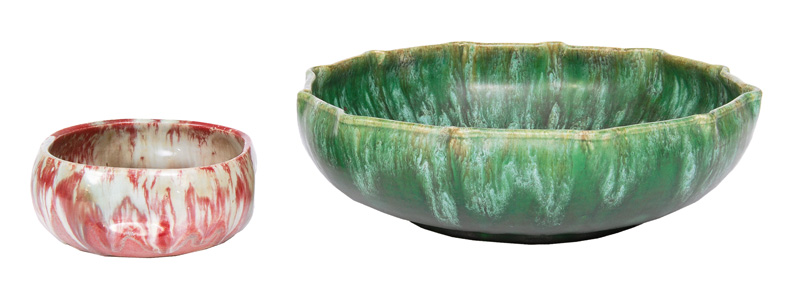 Two Art Nouveau bowls