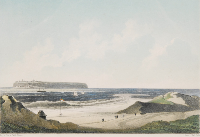 Heligoland seen from the Dune