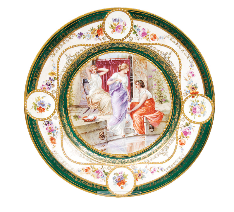 "A plate ""Ladies in the bath"""