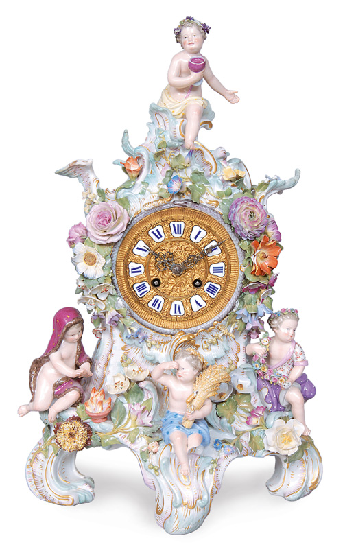 "A chimney clock ""The four seasons"""