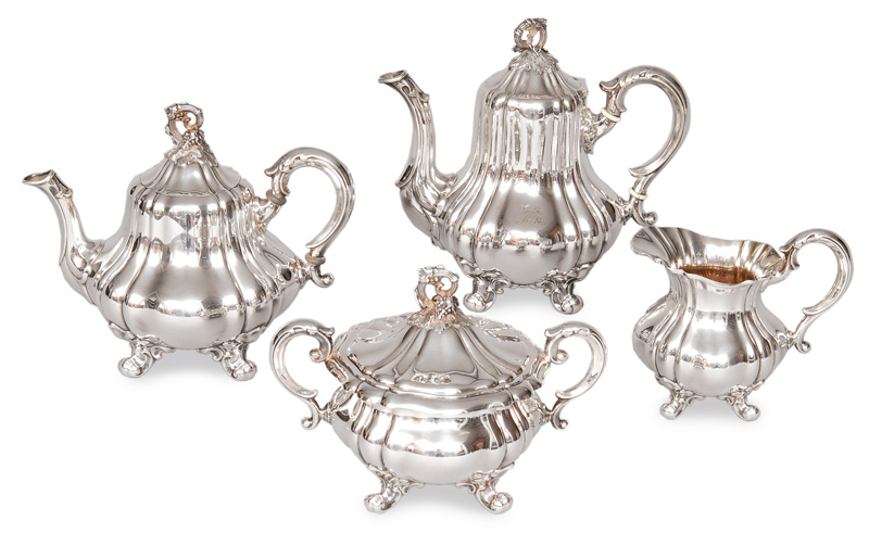 A coffee and tea service in the style of Barouqe
