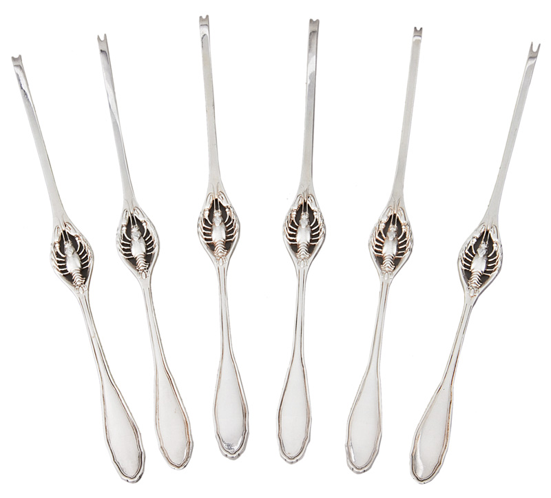 A set of 6 lobster forks
