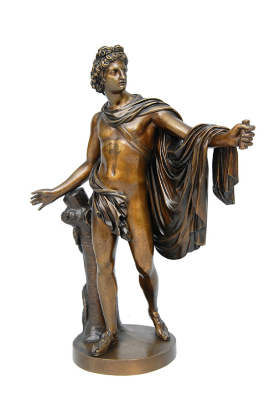 "A bronze figure ""Apoll of the Belvedere"""
