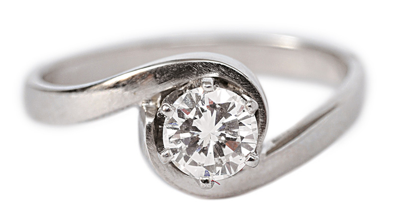 A solitaire ring