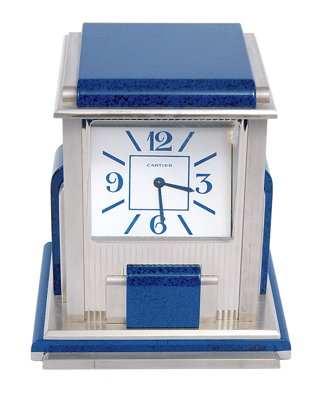 A table clock by Cartier
