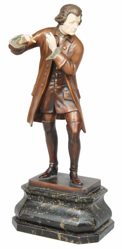 "A bronze figure ""Frederick the Great"""