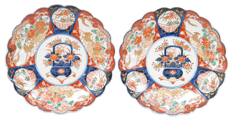 A pair of Arita plates
