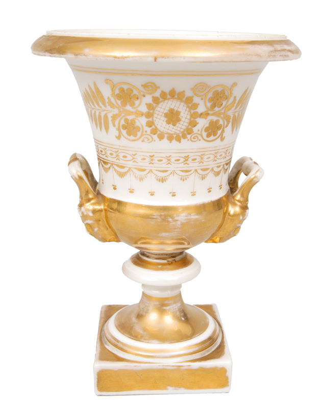 A Biedermeier vase with gold painting