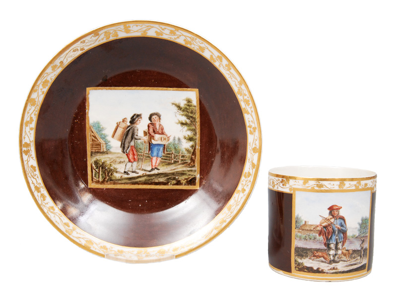 A rare cup with scene of musicians
