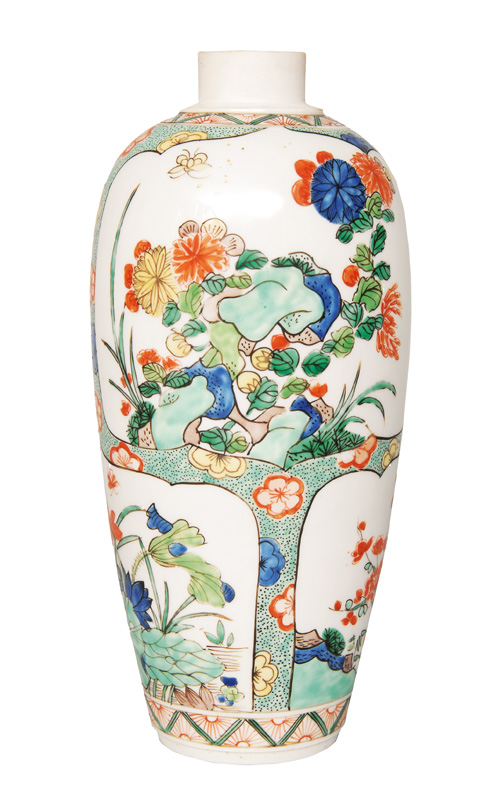 A vase in the Famille Verte style