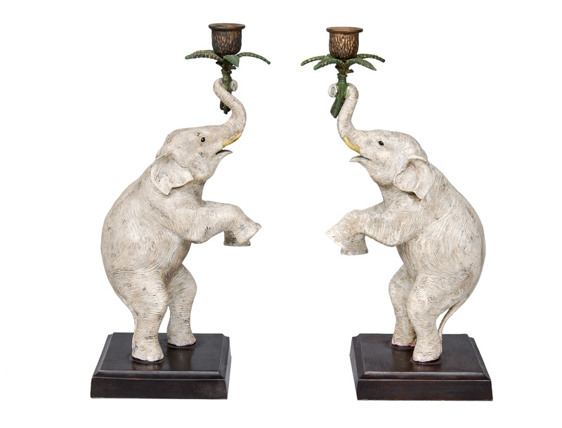"A pair of candleholders ""Elefants"""