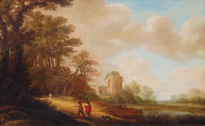 Ideal Landscape with Ruins of a Church