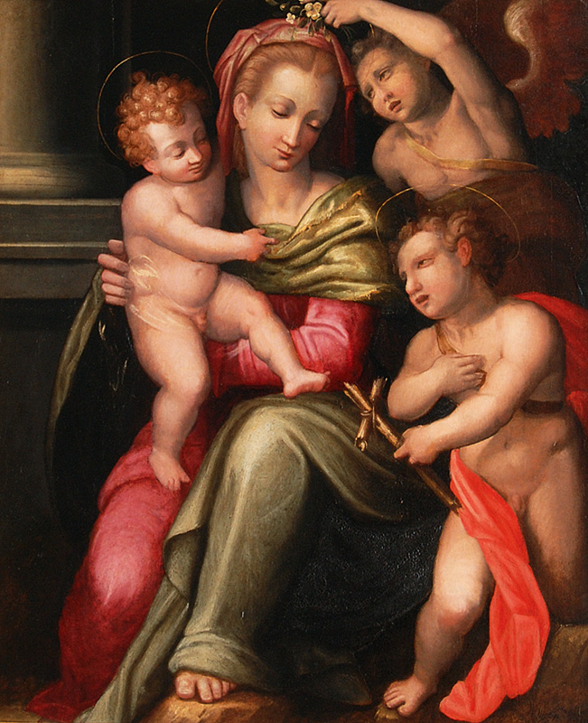 Mary with Jesus and the infant St. John