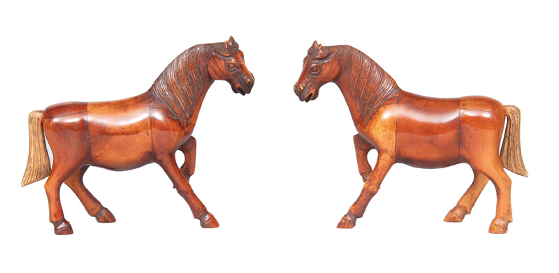 A pair of horse figures