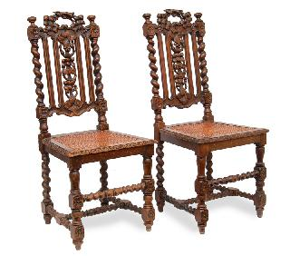 A pair of Historismus chairs