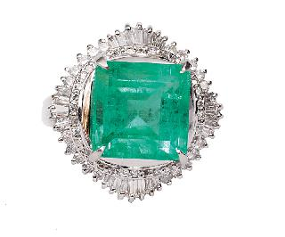 A highquality emerald diamond ring