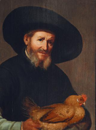 Portrait of a Gentleman with Chicken