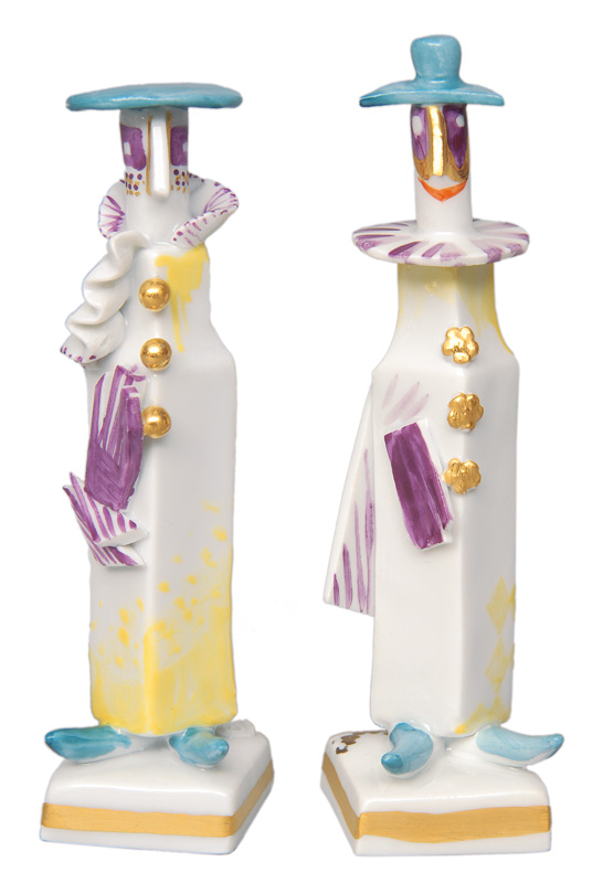 A pair of modern figurines