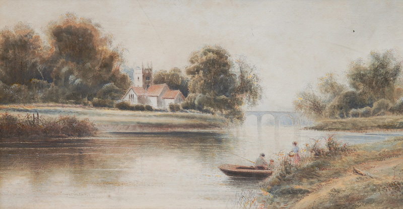 Angler by a River